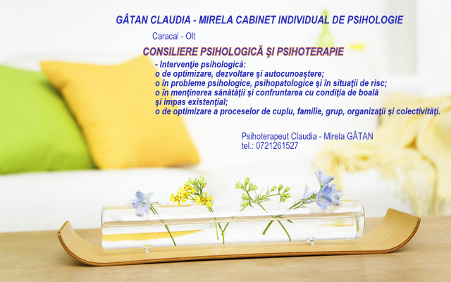 Cabinet Individual de Psihologie Caracal - Claudia Gatan