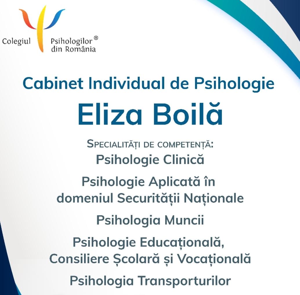 Cabinet Individual de Psihologie Eliza Boilă - Alba Iulia